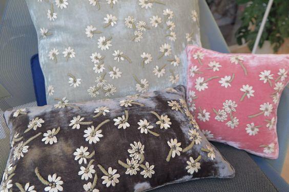 Isadora  Ribbon Embroidery on Silk Velvet