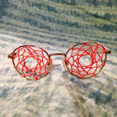 Day dream glasses- dreamcatcher sunglasses woven hippie costume festival wear bohemian eyewear eyeglasses