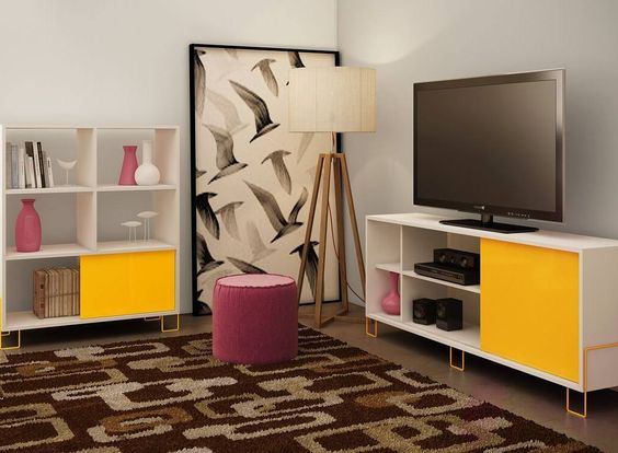 FUN. MODERN. PRACTICAL  The Nacka Series in our Accentuations Collection really does have it all!  #TVStand #ManhattanComfort #HomeDecor #InteriorDesign #Furniture #modernfurniture #FunFurniture by manhattancomfort