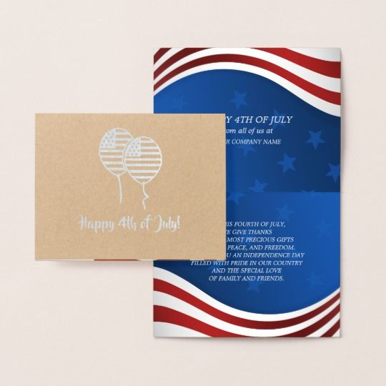Happy 4th Of July Real Foil Craft Paper Cards Zazzle Com Happy 4 Of July Paper Crafts Cards Paper Cards