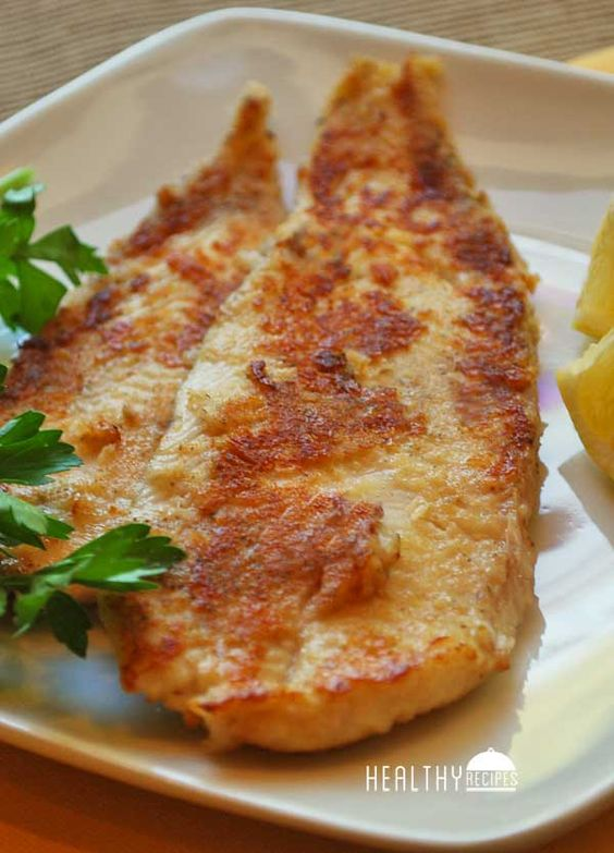 Pan-Fried Sole - skinless sole fillets, ½ cup white whole-wheat flour, 2 tablespoons unsalted butter