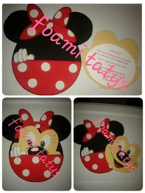 Invitacion minnie mouse roja