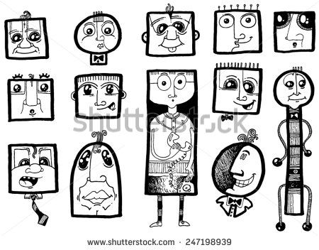 Related keywords amp suggestions for happy people cartoon faces