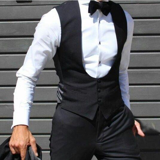 Absolutel Bespoke Black U Waistcoat
