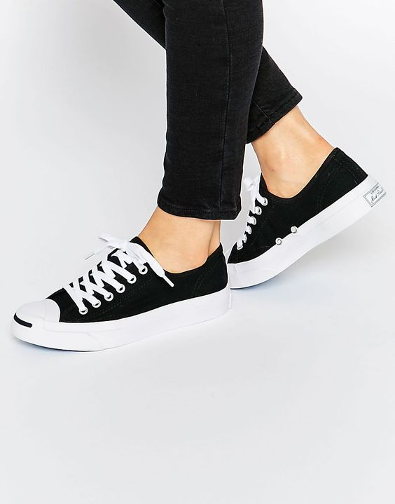 Converse+Jack+Purcell+Black+Canvas+Trainers