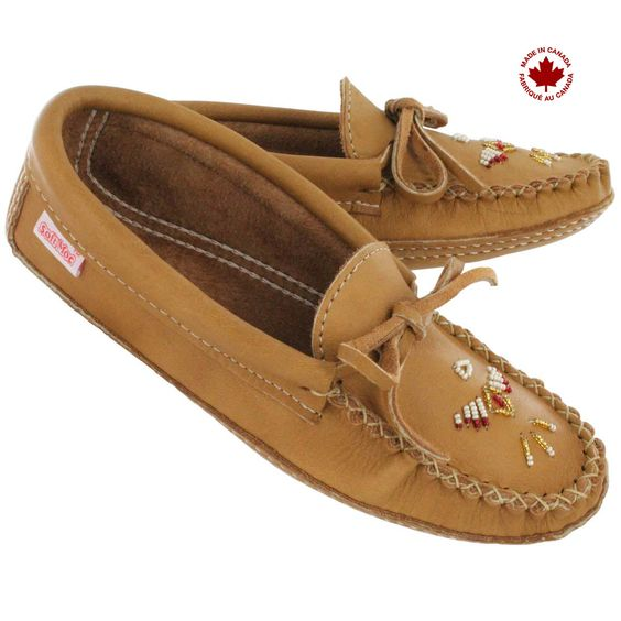 Soft Moc Double Sole beaded moccasins
