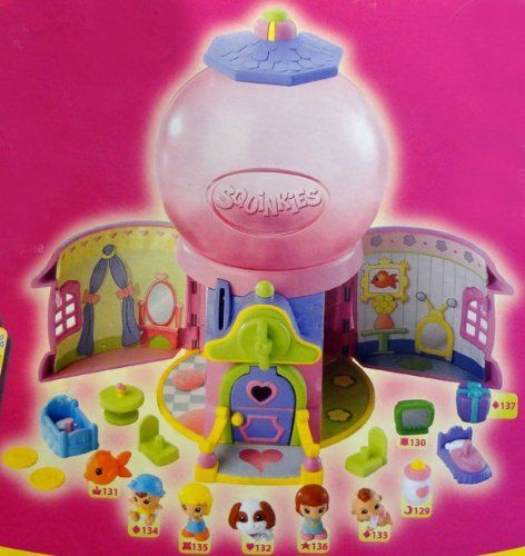 Squinkies Gumball Surprise Playhouse Series 1 - model 37004 by Blip. $16.94. Looks and works like a cute gumball machine. Opens to themed environment inside. Collect them all. Holds up to 28 squinkies. Includes 9 bubbles with themed squinkies inside. Come along to the world of squinkies where you will find a soft and squishy surprise! Watch the gumball machine transform into a playhouse as you open the flaps on the side. Enjoy countless hours of fun playing in t...