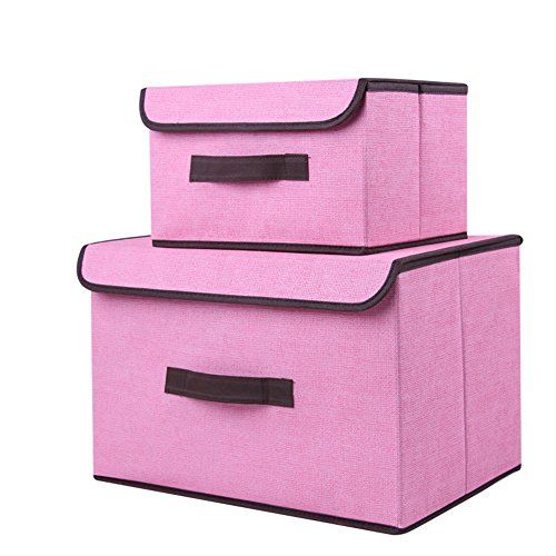 Foldable Storage Box With Lids Collapsible Storage Organizer Box Can Stack 2 Packs For Cloth Off Fabric Storage Boxes Collapsible Storage Cubes Fabric Storage