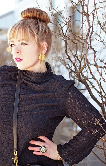 Vintage Coach and Black Lace | Thrift Trick