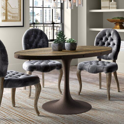 Greyleigh Amherst Industrial Wood Top Dining Table Reviews