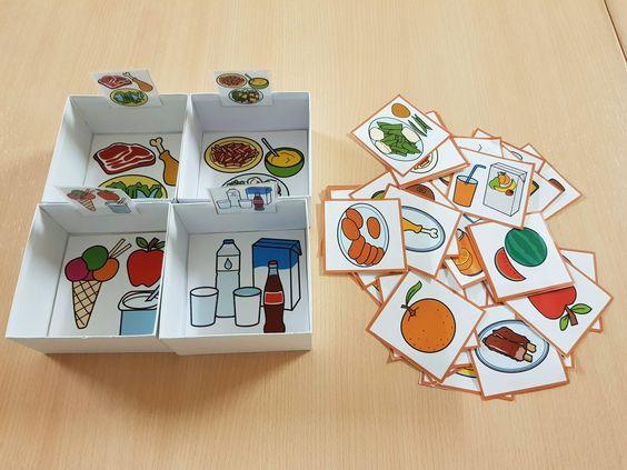 Materiales Teacch Clasificación De Alimentos De Arasaac Alimentos Preescolar Manualidades Con La Letra D Actividades De Nutrición