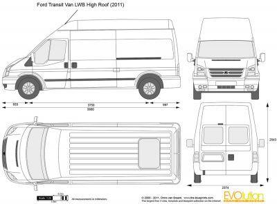 Ford Transit Van Lwb High Roof Motorhome Pinterest