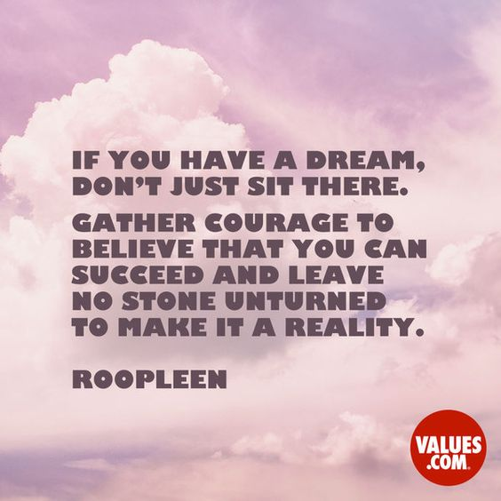 Who has inspired you to follow a dream? #liveyourdreams #inspire www.values.com: