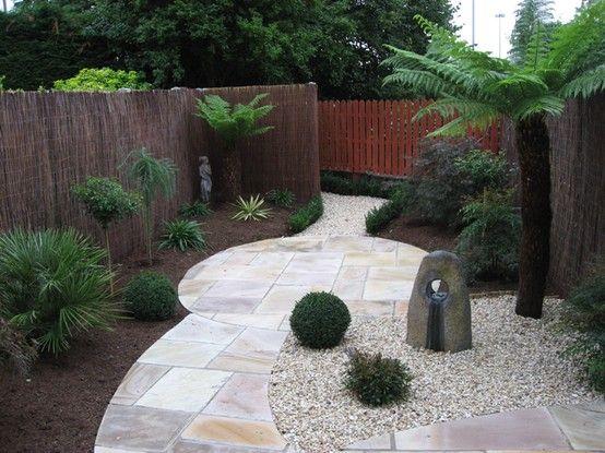 No Grass Willow Fencing Garden Design Ideas Small Rear