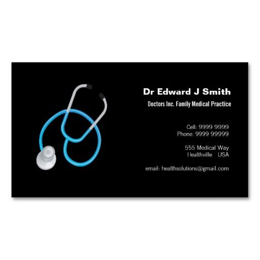 Doctor MD Medical Business Card Design Template – Business Card Template for Doctors