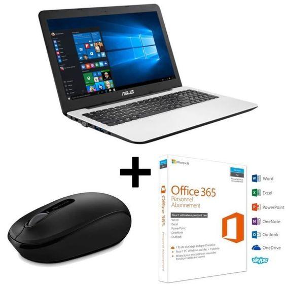 "499 € ❤ TOP #BonPlan #Tech - #ASUS #PC #Portable X554LJ-XX1470T 15.6"" - 4Go RAM - Intel Core i5 - Stockage 1To + Souris Microsoft + Office 365 ➡ https://ad.zanox.com/ppc/?28290640C84663587&ulp=[[http://www.cdiscount.com/informatique/ordinateurs-pc-portables/asus-pc-portable-x554lj-xx1470t-15-6-4go-ram/f-10709-bun554ljxx1470so.html?refer=zanoxpb&cid=affil&cm_mmc=zanoxpb-_-userid]]"