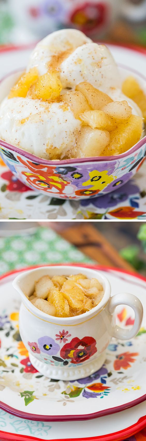 An easy recipe for Spiced Orange and Pear Compote. Delicious over vanilla ice cream, angel food cake, or crackers and brie. Perfect for a cheese plate!