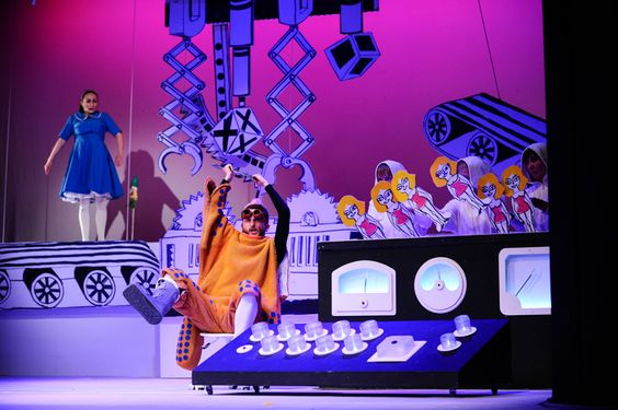"""Photo from the performance """"The Seven Dwarves"""" by Miniatura City Theatre in Gdansk, Poland."""