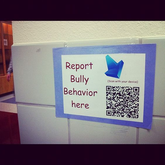 QR Code for Bullying from Vicki Davis. I love QR Codes because they work in any class and any subject. I like the ideas that bullies can be turned in so anonymously. I think this will help to stop the problem.  CCSS.ELA-Literacy.CCRA.W.8 Gather relevant information from multiple print and digital sources, assess the credibility and accuracy of each source, and integrate the information while avoiding plagiarism.