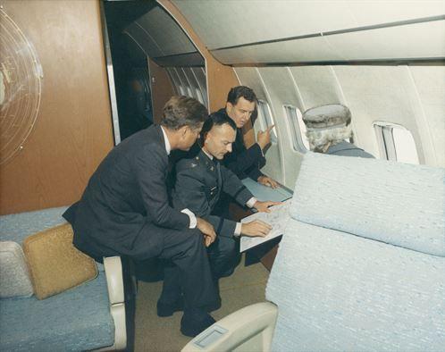 President John F. Kennedy with the two U.S. Senators from Maine, Edmund Muskie…