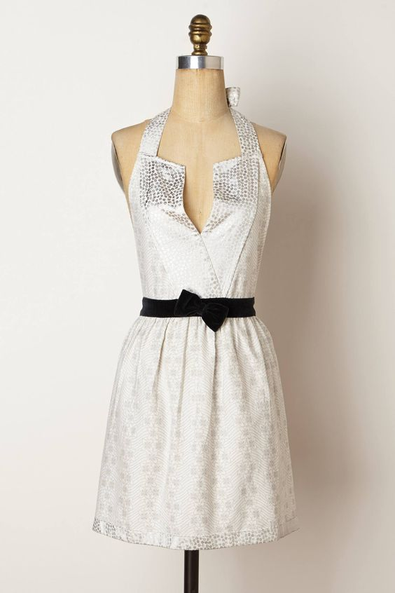 Because if you must wear an apron, the least it could do is sparkle. Fiona Apron - anthropologie.com