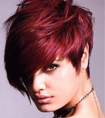 coloration rouge coiffure #4 | Coiffure | Pinterest | Coiffures ...
