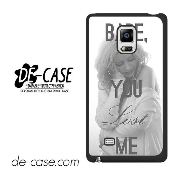 Christina Aguilera Babe You Lost Me DEAL-2587 Samsung Phonecase Cover For Samsung Galaxy Note Edge