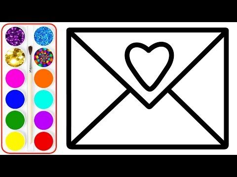 Envelope Drawing Coloring For Kids Coloring Pages For Children Learn Drawing Youtube Coloring For Kids Coloring Pages For Kids Coloring Pages