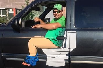 This Plumber's Truck Is Basically A Poop Joke And It's Amazing