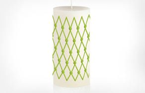 luxurious candle Korona - Decorated poured pillar candle