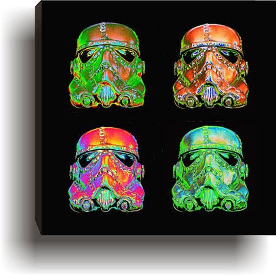 Steampunk Optimus Stormtrooper Pop Art  Warhol Giclee by kyoob, $75.00