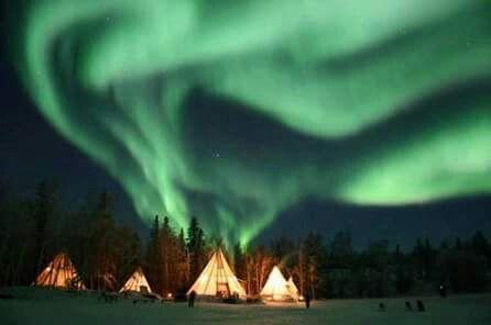 Aurora boreal en Canadá