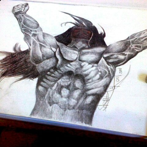 """""""Gloriusly"""" Pencil on paper A3 2014 Hand made by Yanas Kosel"""