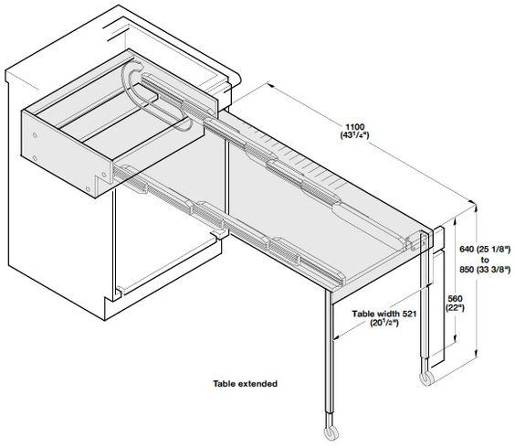 Hafele Inchprestoinch Pull Out Kitchen Table