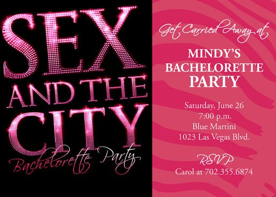 sex and the city themed bridal showers and bachelorette parties are so much fun contact me to print your sex and the city invitations