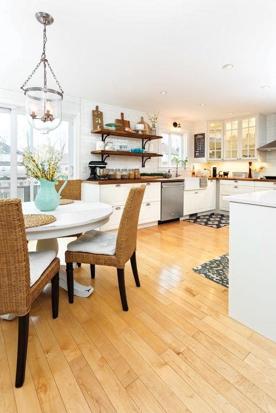 Avant Apres Cuisine De Style Farmhouse Je Decore Repeindre En Blanc Cuisinette Et Maisons De Ferme