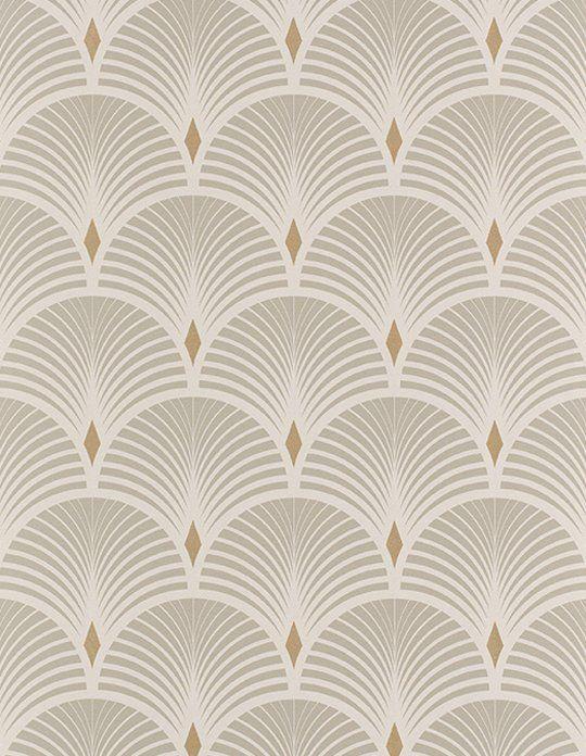 Papier Peint Baker Vinyle Sur Intisse Graphique Gris Et Dore Dernieres Nouveautes Papiers Peints Pein Papier Peint Papier Peint Art Deco Art Deco Moderne