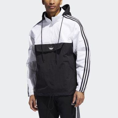 adidas outline half-zip anorak jacke männer black white xs