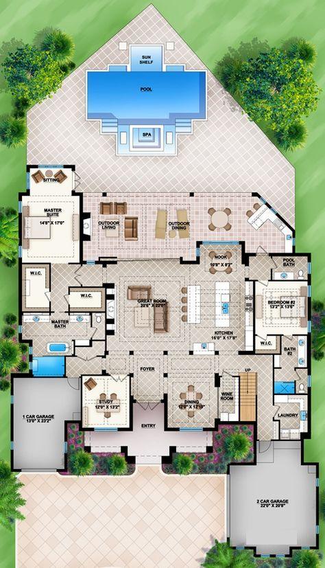 House Plan 207 00008 Coastal Plan 4 738 Square Feet 4 Bedrooms 4 5 Bathrooms Beach House Plans Modern Beach House Dream House Plans