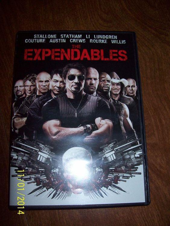 The Expendables (DVD, 2010) Stallone, Statham, Li, Lundgren, Austin, Crews