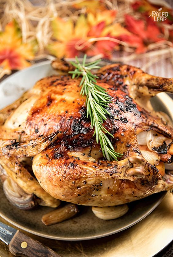 Roast Chicken With Rosemary, Lemon, And Honey Recipe — Dishmaps