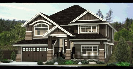 Split Level Entry Uphill Sloped Lot New Home Designs