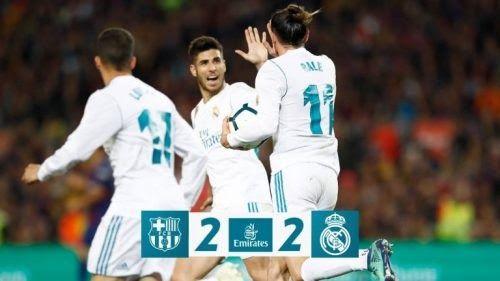 Download Video Barcelona Vs Real Madrid 2 2 Highlights Goals Football Highlights Barcelona Vs Real Madrid Real Madrid Madrid