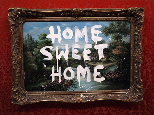 'home sweet home' banksy