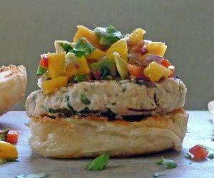 Tilapia Burger with Mango Salsa
