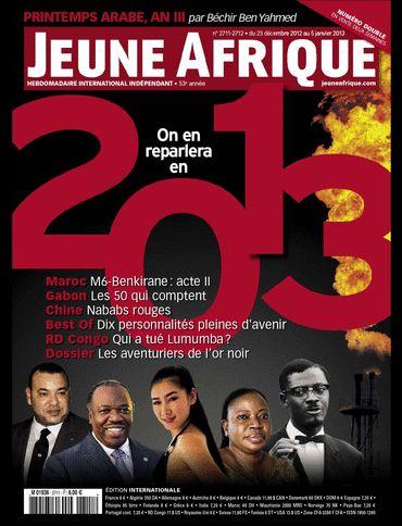 La couverture de Jeune Afrique du 23 Decembre 2012