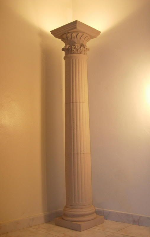 The image shown are called Doric columns and were created as early as 600  BC. Doric columns are a combination of a rectangular slab, above a circul… - The Image Shown Are Called Doric Columns And Were Created As Early