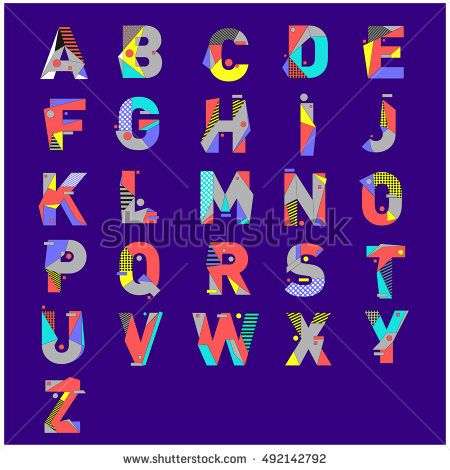 Vector of colorful alphabet. Unique fonts for design and illustration template. Typography for poster and headline publication.