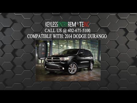 How To Change A 2014 2019 Dodge Durango Key Fob Battery Key