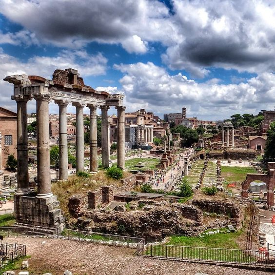 The Forum, Rome, Italy. I was here on my honeymoon to